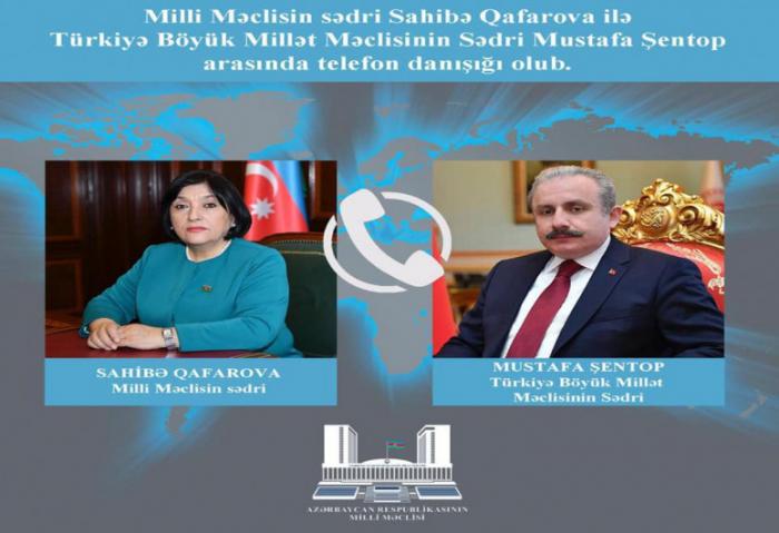 Mustafa Şentop Sahibə Qafarovaya zəng etdi