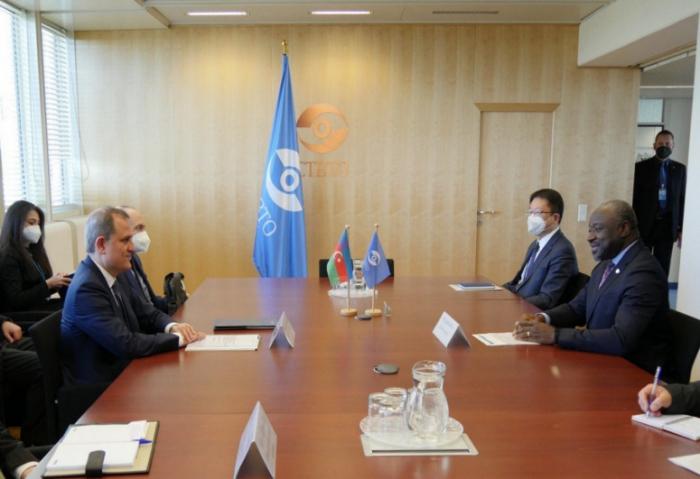 Jeyhun Bayramov meets with Lassina Zerbo