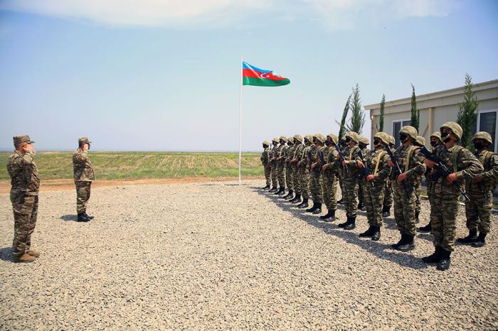 Azad olunmuş ərazilərdə yeni hərbi hissə açıldı -  VİDEO+FOTO