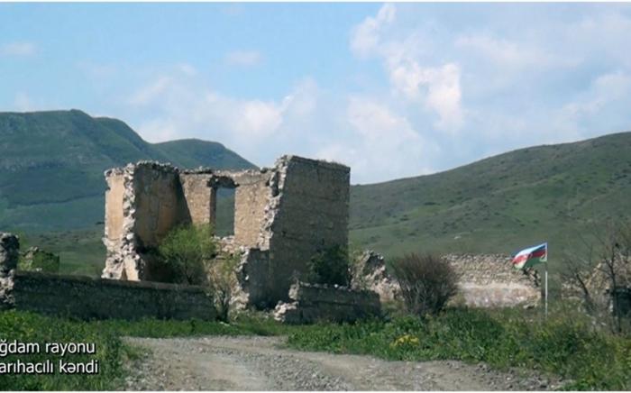 Videoaufnahme  des Dorfes Sarihadschili in der Region Aghdam