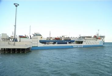 El buque Ro-Pax de Azerbaiyán realiza su viaje inaugural