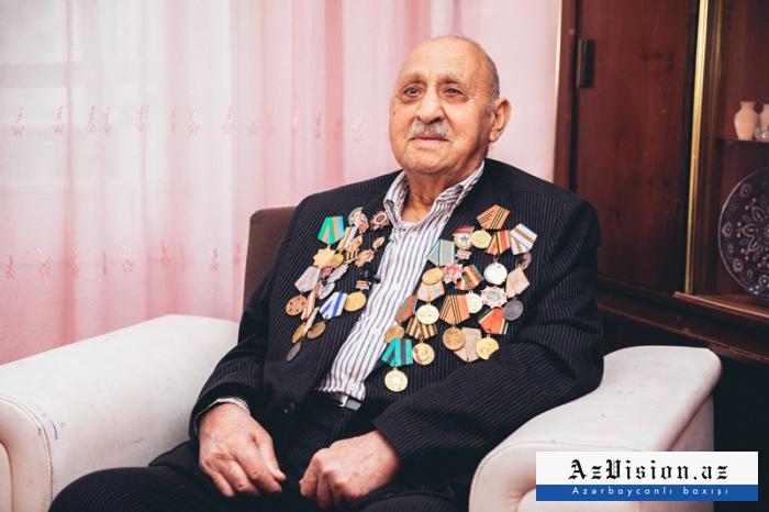 """Berlinə qədər döyüşən 97 yaşlı veteran:  """"Vətən şirindir"""" -  VİDEO+FOTOLAR"""