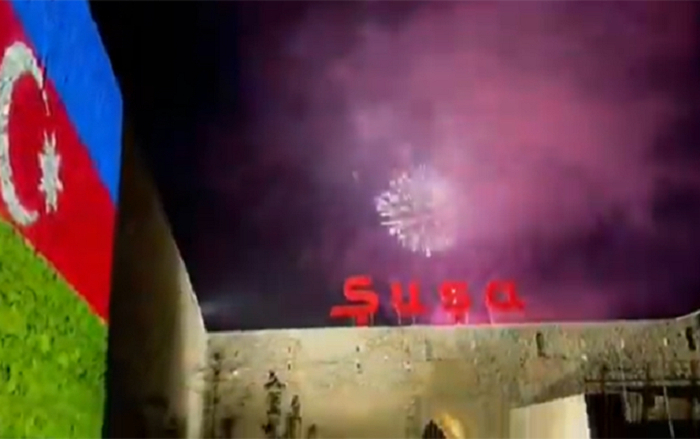 Azerbaijani first VP shares footages of fireworks in Shusha - VIDEO