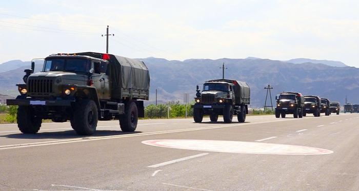 Las tropas de la guarnición de Najicheván realizan ejercicios regulares de mando-personal