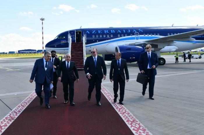 Azerbaijani PM leaves for Belarus