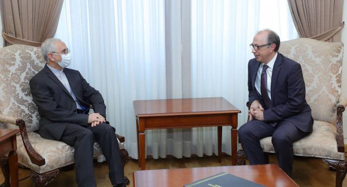 Armenian FM meets Iran's ambassador