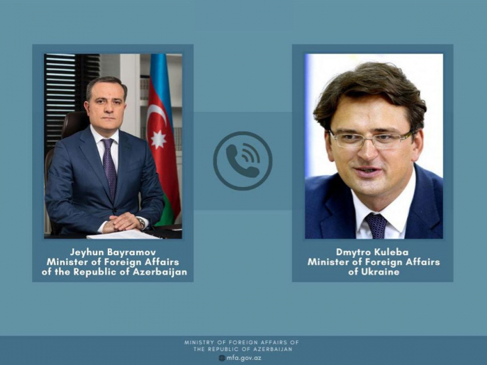 Azerbaijani FM informs his Ukrainian counterpart about situation in the region