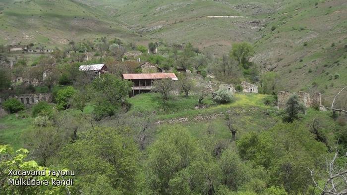 Ermənilərin dağıtdığı Mülküdərə kəndi -    VİDEO