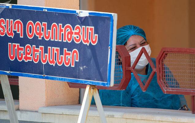 Ermənistanda virusa yoluxanların sayı 220 mini ötüb