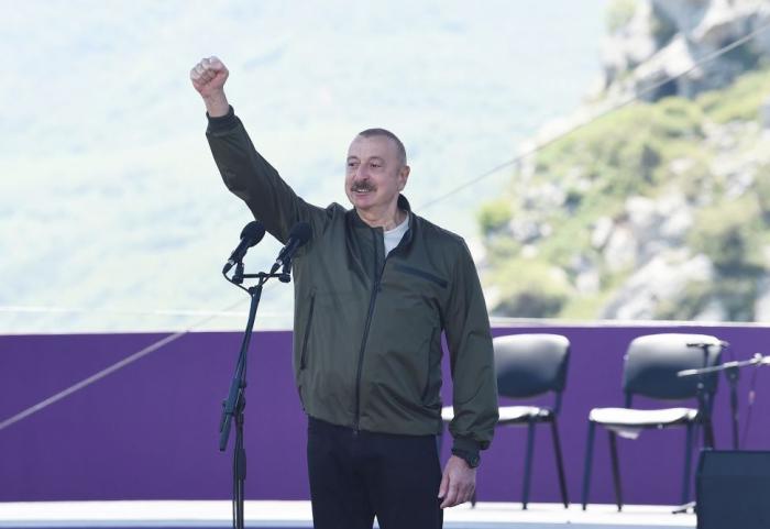 """""""We will live in Shusha forever"""" - President Aliyev"""