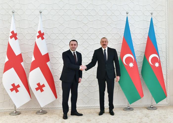 Aserbaidschanischer Präsident empfängt den georgischen Premierminister