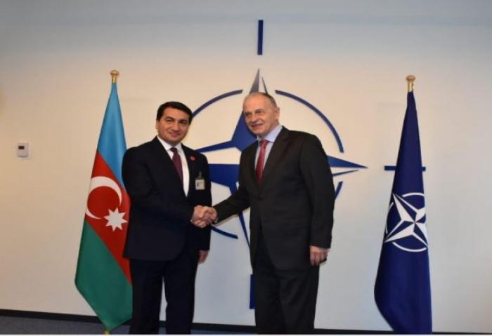 Hikmət Hacıyev NATO Baş katibinin müavini ilə görüşəcək