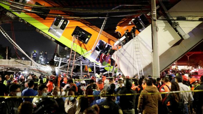 Mexikoda metro körpüsü çöküb, 15 nəfər ölüb