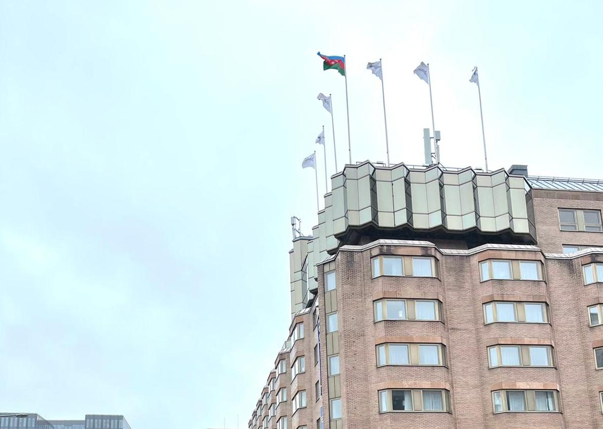Stokholmda Azərbaycan bayrağı ucaldıldı