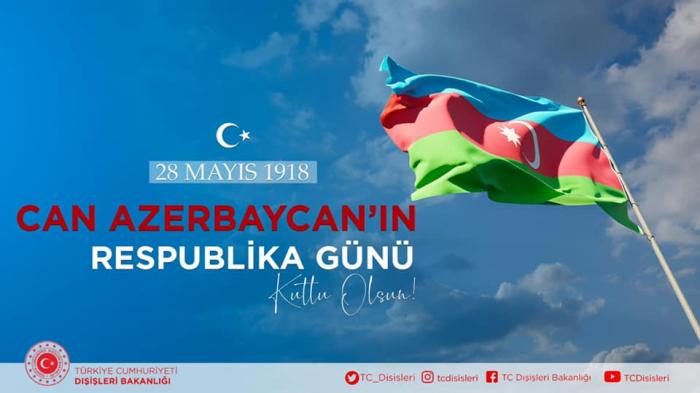 """""""Azərbaycan şanlı bayrağının enməyəcəyini göstərdi"""" -  Türkiyə XİN"""