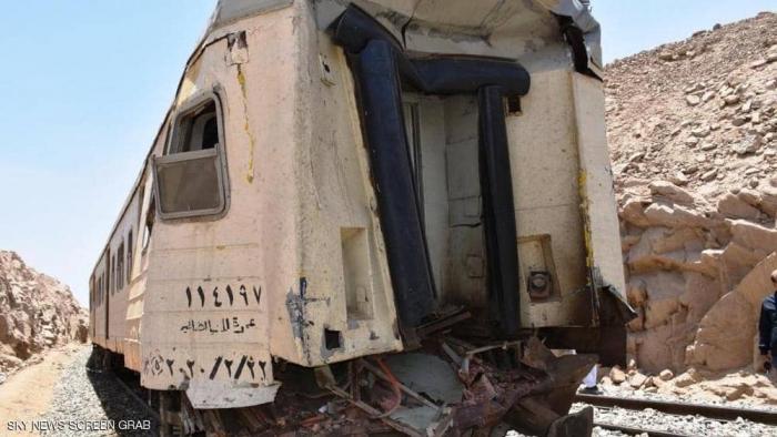 ارتفاع حصيلة جرحى تصادم القطارين بمصر