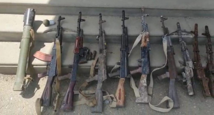 Xocavənddə ermənilərin atıb qaçdığı silahlar aşkarlandı