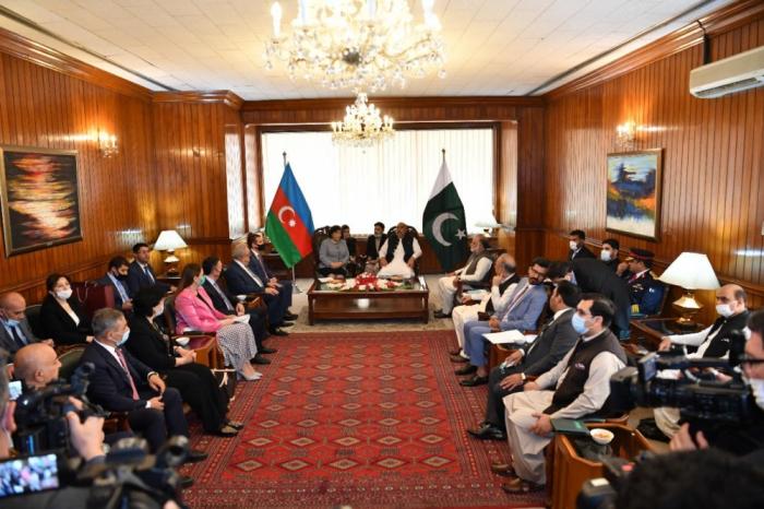 Sahibə Qafarova Pakistan Milli Assambleyasının sədri ilə görüşdü