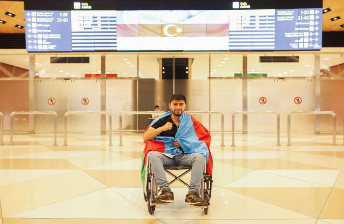 Six more Azerbaijani war veterans return home after receiving treatment in Turkey