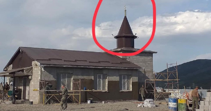 Mosque built near Khojaly airport