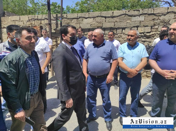 Hikmet Hajiyev attends farewell ceremony held for martyred journalists -   PHOTO