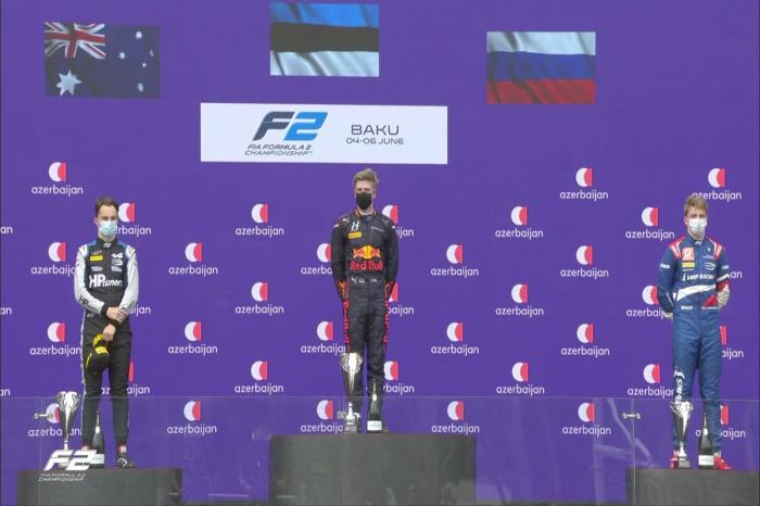 Jüri Vips becomes winner of F2 race