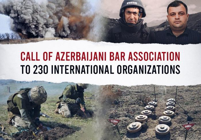 Azerbaijan Bar Association appeals to int'l organizations on Armenia's mine provocation