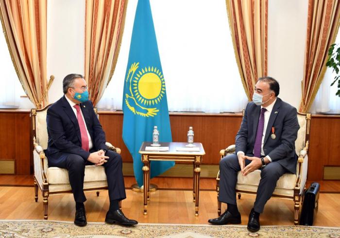 Kazakhstan President awards Azerbaijani Ambassador
