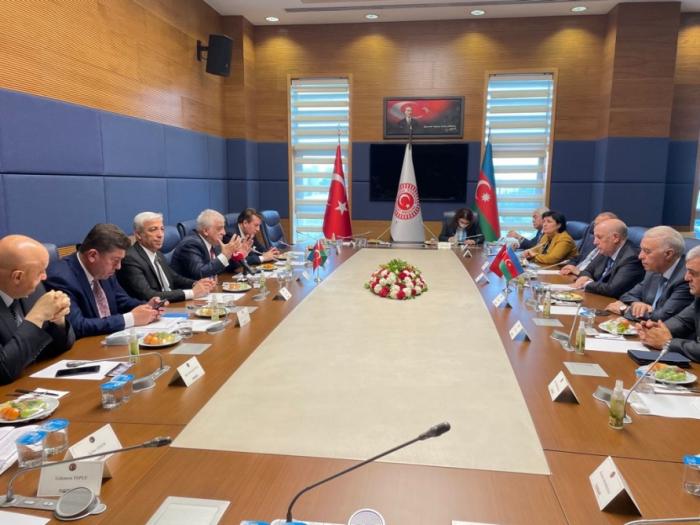 Undéputé de la Grande Assemblée nationale de Turquie rencontre unedélégation azerbaïdjanaise