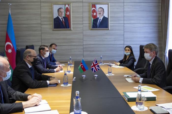 وزير الطاقة الأذربيجاني يستقبل السفير البريطاني جيمس شارب