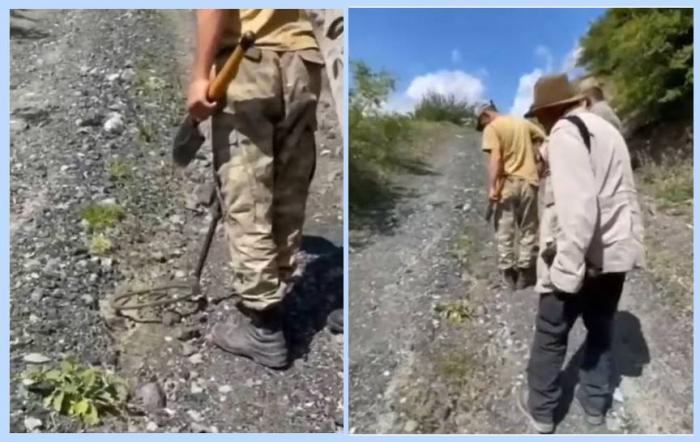 Famoso fotógrafo escapa de caer en mina en Kalbajar en el último momento-  VIDEO