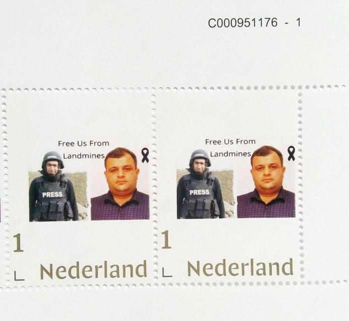 Se emitieron sellos en los Países Bajos en memoria de Siraj Abishov y Maharram Ibragimov