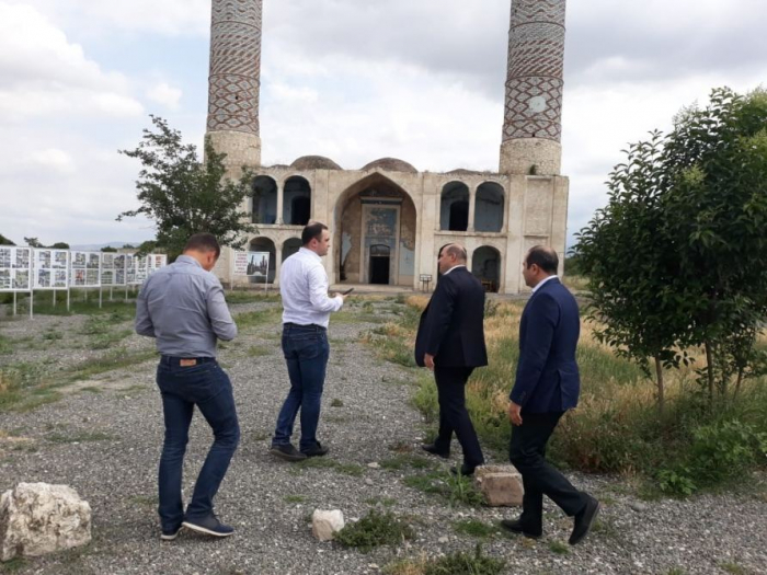Latvian parliamentary delegation visits mosque in Aghdam district