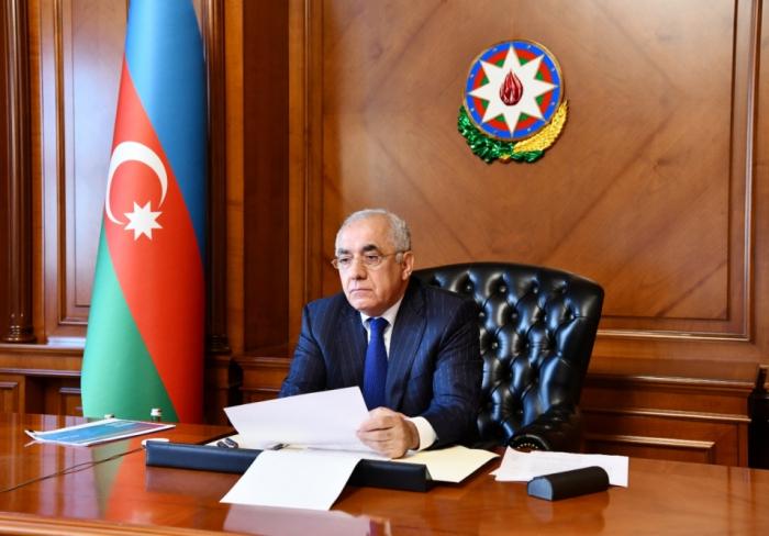 El primer ministro azerbaiyano celebra una reunión sobre la EURO 2020