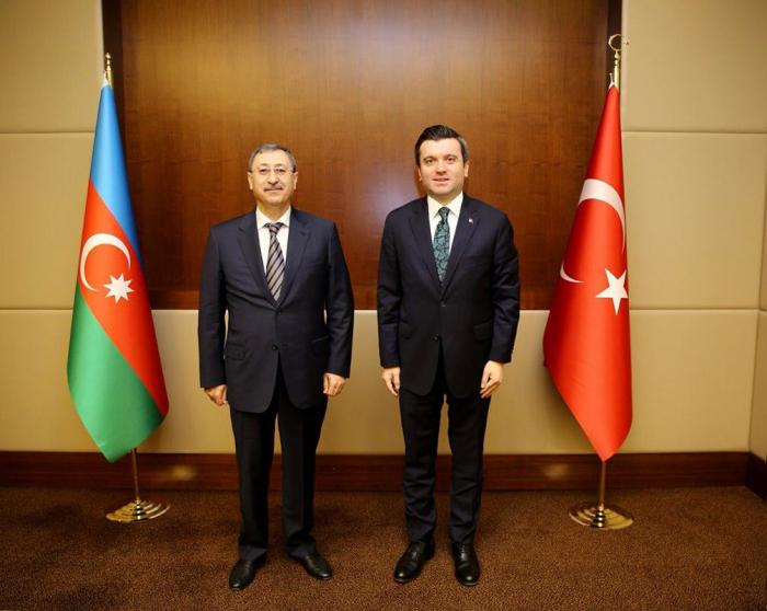 Khalaf Khalafov holds discussions with his Turkish counterpart