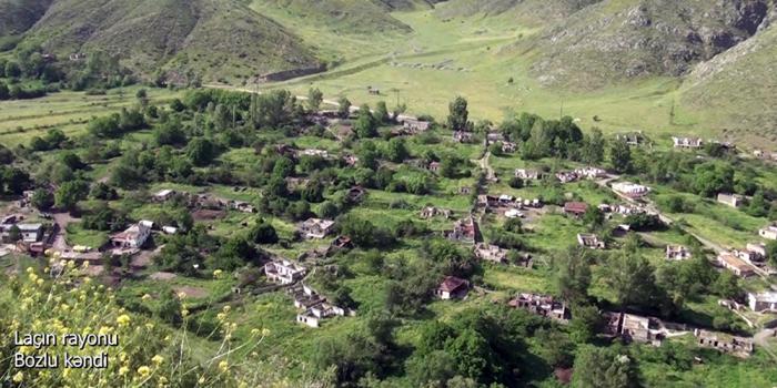 Une   vidéo   du village de Bozlou de la région de Latchine diffusée