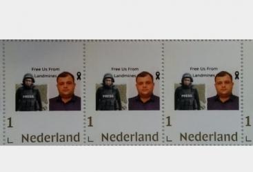 اصدار طابع بريدي دولي في ندرلاند احياء لذكرى الصحفيين الاذربيجانيين الشهيدين