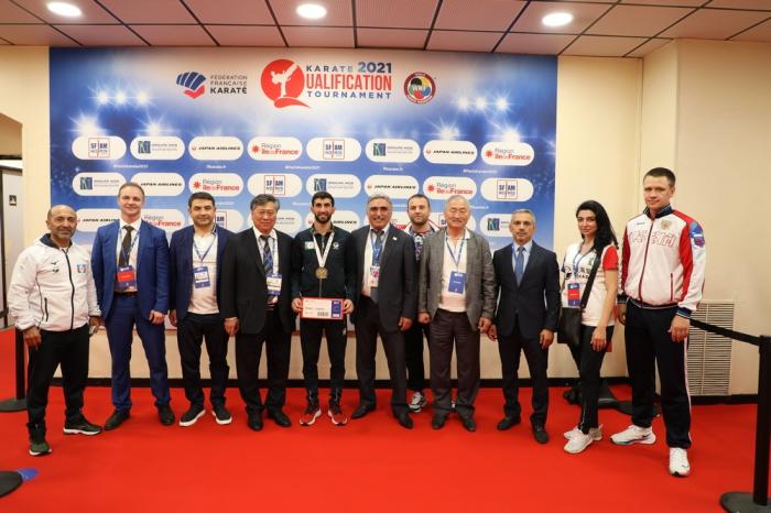 L'équipe d'Azerbaïdjan de karaté entre en lice au tournoi de qualification olympique à Paris