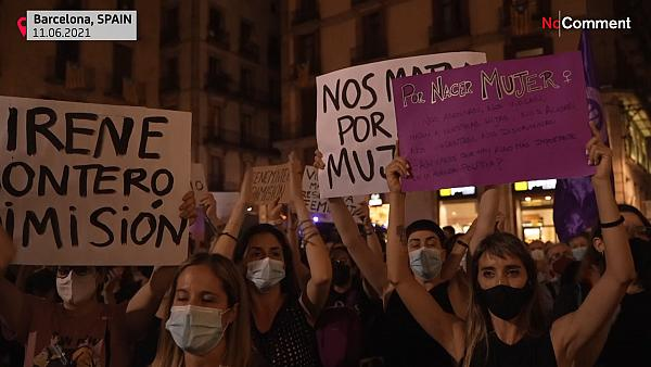 Women Protest in Spain after body of missing girl found -  NO COMMENT