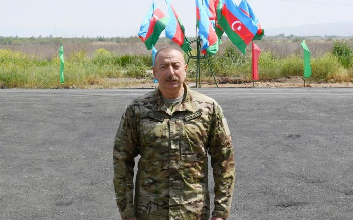"""Präsident Ilham Aliyev weiht Umspannwerk """"Füzuli"""" ein"""