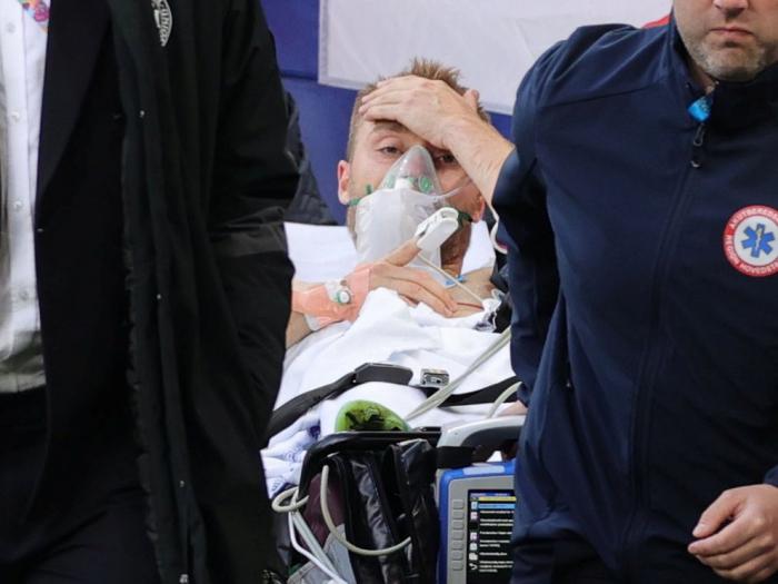 """Las primeras palabras de Christian Eriksen desde el hospital: """"Quiero entender lo que me pasó"""""""