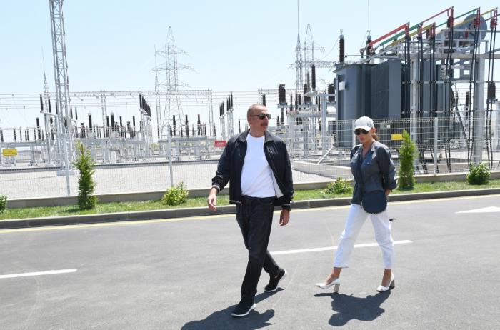 """Presidente Ilham Aliyev asiste a la inauguración de la subestación """"Fuzuli"""""""