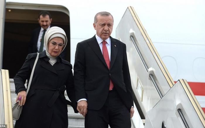 Recep Tayyip Erdogan est arrivé en Azerbaïdjan