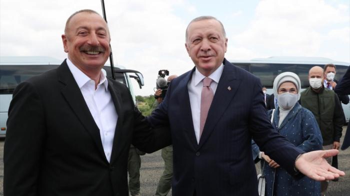 President Ilham Aliyev welcomes Turkish President Erdogan in Fuzuli district - PHOTOS