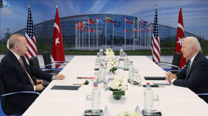 Turkish president presents book on counter-terrorism to leaders at NATO summit
