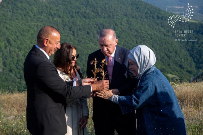 Los presidentes de Azerbaiyán y Turquía, en la llanura Jidir -   FOTOS