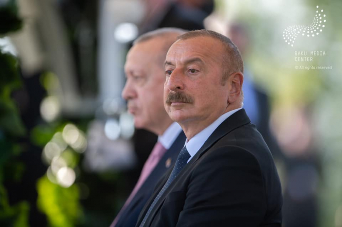 Ilham Aliyev y Erdogan tienen una cena conjunta en Shusha