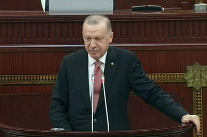 Erdogan sprach in der Sondersitzung von Milli Mejlis