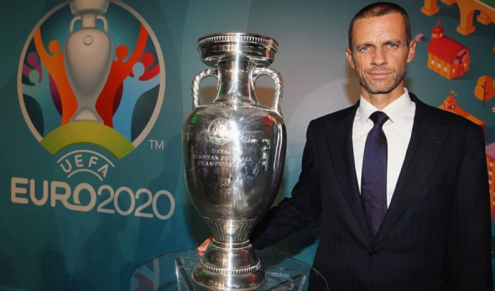 UEFA President Ceferin arrives in Baku