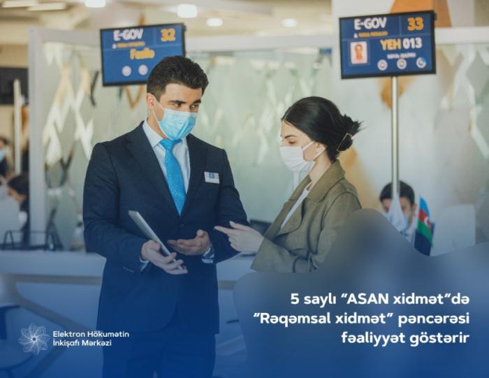 "ASAN service No 5 in Baku launches ""Digital service"" window"